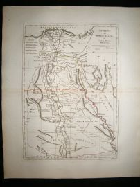 Ancient & Modern Egypt 1794 Antique Map. Samuel Dunn, Laurie & Whittle